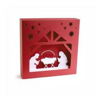 christmas manger shadowbox