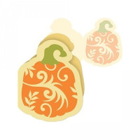3 piece swirl pumpkin card