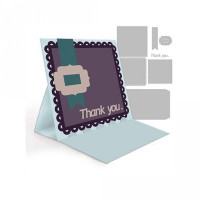 easel card- thank you