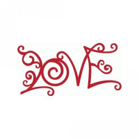 curlicue love word