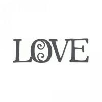 love curlicue word