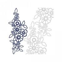 1 piece floral border