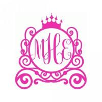 princess carriage monogram