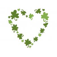 Heart of clovers