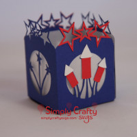 4th of July Tealight Holder