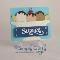 Banana Split Card with Gift Card Insert