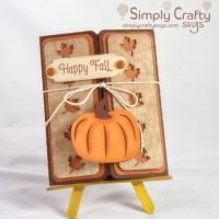 Fall Pumpkin Gatefold Card